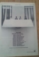 WIRE 'Chairs Missing' tour 1978 UK Poster size Press ADVERT 16x12 inches