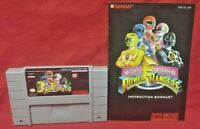 Mighty Morphin Power Rangers *Authentic* Super Nintendo SNES Game Works Tested