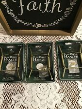 """LOT OF 3 Tripar BRASS PLATE WALL HANGERS-FITS 5-7"""" PLATES-NEW ON CARD"""