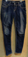 """Silver Jeans Co. Suki Skinny Stretch Jeans 30x31 Low Rise 32"""" Waist Dark Wash"""