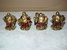 BUDDHA WITH DRAGON FIGURINE STATUE SET ( SET OF 4 )