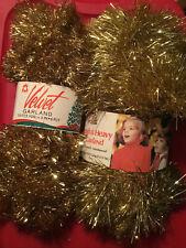 Vintage Decor Noel & National Tinsel Foil Christmas Tree Garlands Lot of 2