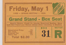 RARE VINTAGE HORSE  RACING ADMISSION TICKET CHURCHILL DOWNS RACETRACK 1959