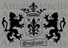 STENCIL English Coat of Arms 10x14.3 FREE US SHIPPING