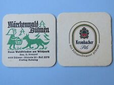 Beer Coaster ~ KROMBACHER Privatbrauerei Pils ~ GERMANY ~ Animal Wild Park Promo