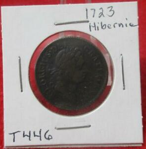 1723 Wood's Hibernia Halfpenny  Circulated VF                            #T446