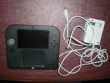 Nintendo 2DS Red Handheld System Console Bundle 4GB Memory Card SD + Charger