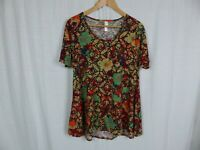 LuLaRoe Perfect T Shirt Women's Printed Short Sleeve Tee Tunic Casual Size Small