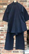 1960 Republic of China Blue Linen Tunic & Pants Uniform (Former Museum Exhibit)