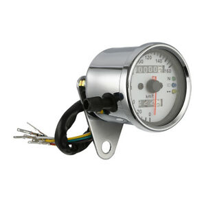Odometer Speedometer Tachometer Speedo Meter LED For Honda Cafe Racer New