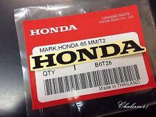 HONDA GENUINE 100%  MARK 65 mm  - Black - STICKER DECAL STICKER LOGO BADGE
