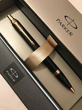 NEW 2016 PARKER IM BLACK LACQUER GT BALLPOINT PEN-FRANCE-BLUE INK-GIFT BOX