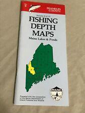 VINTAGE 1985 Maine Lakes & Ponds Fishing Depth Maps Franklin County Vol. 9