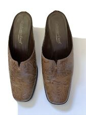 Coldwater Creek Women's size 7.5 M shoes Brown Slip on Mules