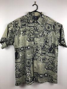 Vintage 80s does 50s Hawaiian Shirt Mid century Tiki style Retro print Hipster