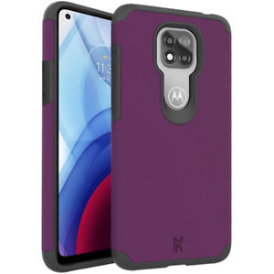 MAGENTA PURPLE Rugged Heavy Duty Shockproof Case Cover For Moto G Power 2021
