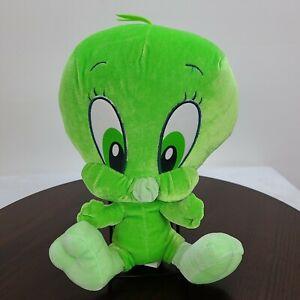 "Lonney Tunes Tweety Bird Plush 10"" Green Warner Bros Stuffed Toy"