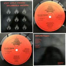 STIFF LITTLE FINGERS Inflammable Material - EX/VG+ Cond 1st Pressing LP & Inner
