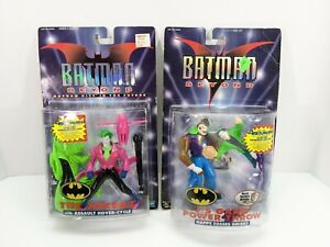 Batman Beyond Hasbro Lot of 2 J's Gang Power Throw & The Jokers with Hover-Cycle