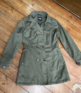 The North Face Boulevard Primaloft Ladies Green Quilted Coat Parka Size Small