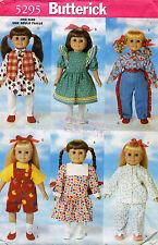 """Butterick Doll Wardrobe Pattern 5295 18"""" UNCUT"""