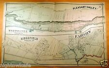 Rare 1876 Map EDGEWATER Pleasant Valley RIDGEFIELD Fairview NJ New Jersey ORIG