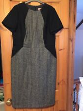 Boden Short Sleeve British Tweed By Moon wool Lined dress 18L Immaculate