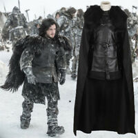 Game of Thrones King in the North Jon Snow Costume Full Set Cosplay Uniform Gift