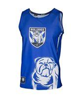 Canterbury Bulldogs NRL Sublimated Graphic Logo Training Singlet Sizes S-5XL!