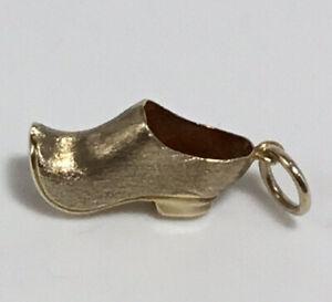 9ct Gold Shoe Clog Charm Bracelet Necklace Pendant 375