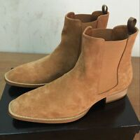 Men Chelsea Boots High Top Slip On England Faux Suede Fashion-Ankle Casual Shoes