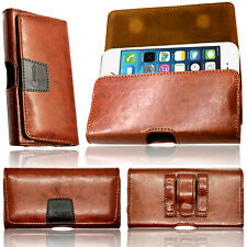 Genuine Leather Holster Belt Pouch Case Protective Cover Strong 2 Magnetic Flip