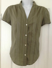 Ladies GAP Stretch Short Sleeved Blouse/Shirt/Top Size Small Green