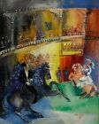 FRAMED CANVAS PRINT PAINTING dufy jean haute ecole OPERA CIRCUS EQUESTRIAN HORSE