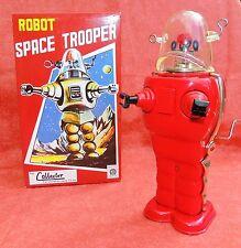 jouet en tole. ROBOT Space Trooper. Rouge 26,5 cm. Réf. TR2007. NEUF