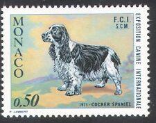Monaco 1971 chien/épagneul/animaux/animaux de compagnie 1 V (n21763)