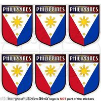 """PHILIPPINES Philippine Shield 40mm(1.6"""") Mobile Cell Phone Mini Sticker Decal x6"""