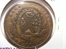 Canada 1857, Bank of People,  Lower Canada, 1 Penny Token, VF+, KM#Tn12