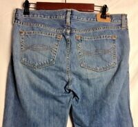 Womens Abercrombie & Fitch Sz 8 R Button Fly Distressed Boot Cut Jeans FLAWED
