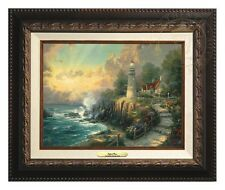 Thomas Kinkade Light of Peace Canvas Classic 9 x 12 (Aged Bronze Frame)