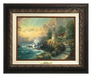 Thomas Kinkade Light of Peace 9 x 12 Canvas Classic (Aged Bronze Frame)