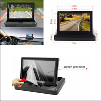 "5"" HD Car LCD Dash Monitor Rear View Backup Display for Reverse Parking Camera"