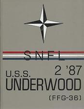 ☆* USS UNDERWOOD FFG-36 SNFL DEPLOYMENT CRUISE BOOK YEAR LOG 1987 - NAVY *☆