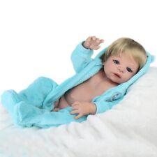 """22"""" Reborn Dolls Babies Newborn Full body Vinyl Silicone Bathing Baby Boy Doll"""