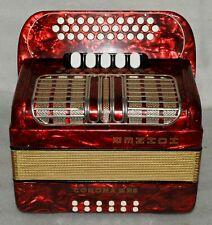 HOHNER CORONA III RS G-C-F 3 Row Button Accordion Akkordeon 5 Switch very good