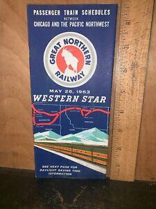 Great Northern railway passenger train schedules May 26, 1963