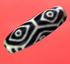 Antique Tibetan Dragon Eye Bead Amulet Buddhist Dzi Agate Fashion Jewelry