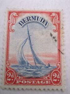 1938 Bermuda 2d 'Lucie' Red & Blue used Mi.106. T67