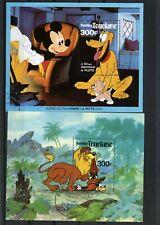 Togo 1980 Disney Animals Set Of 2 S/S Cto