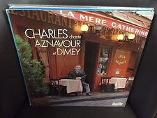 Charles Aznavour Charles Chante Aznavour Et Dimey LP EX 1983 Barclay FRANCE